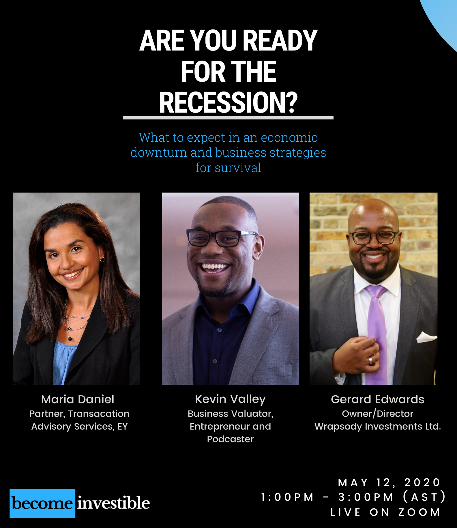 Are you ready for The Recession feat. Gerard Edwards and Maria Daniel